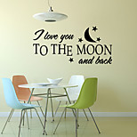 Words & Quotes Wall Stickers Romance / Fashion / Shapes Wall Stickers Plane Wall Stickers,vinyl 57*27cm