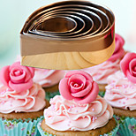 6pcs Sugar Cake Tools Rose Petals  Roses Peony Cookies Mold