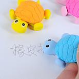 1PC  Lifelike Small Turtle Simulation Eraser Animal Eraser Trolltech Eraser Creative Student Gift (Style Random)