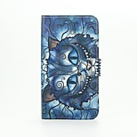 Blue Cat Patter PU Leather Full Body Case with Stand for Wiko Lenny2