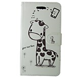 Giraffe PU Leather Flip Case with Magnetic Snap and Card for Huawei Ascend P9/P8/P8 LITE/P7/Honor 6/G6/Y550