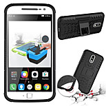 Plastic Back Cover Full Body Cases Bumper Cases with Stand for MOTO G4 Assorted Color