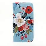 Flower Pattern PU Leather Full Body Case with Stand and Card Slot for iPhone 6s Plus 6 Plus 6s 6 SE 5s 5