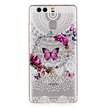 Butterfly Flower Pattern Embossed TPU Case for P9/ P9 Lite