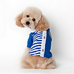 Dog Shirt Blue / Pink Summer Stripe Striped-Lovoyager