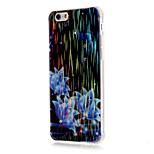 luxo escovado TPU shell telefone azul teste padrão de flores queda de resistência para iphone 6 / 6s / 6 plus / 6s mais