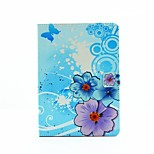 Flowers Personality Painted PU Leather Flip Shell Holster for iPad Air3 /iPad Pro Mini