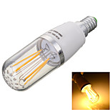 Marsing E14 4W 4-COB 400lm Warm/Cool White Light LED Filament Bulb Lamp(AC 85~265V)