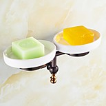 ORB and Rose Gold-Plated Finishing Brass Material Soap Dish