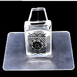 1Set Square Transparent Nail Stamp Tool Nail Set