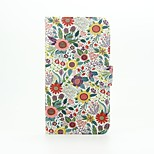 Chrysanthemum Indicum Patter PU Leather Full Body Case with Stand for Wiko Lenny2