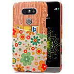 LG G3 Kunststoff / PU Leder Rückseitenabdeckung / Ganzkörper-Hüllen / Hüllen mit Ständer Einheitliche Farbe / Spezielles Design