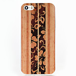 Wooden Pattern Glitter Shine TPU Soft Back Case for iPhone 5/5S/SE