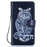 Owl Pattern PU Leather Full Body Case with Stand for Huawei Ascend P9 Lite
