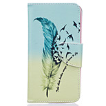 Feather Pattern Card Phone Cover For LG K7/K10