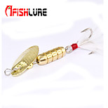 Afishlure Metal Bait Jigs Buzzbait & Spinnerbait Spoons Trolling Lure 4pcs,5g/1/6 oz. 80mm/2-5/8