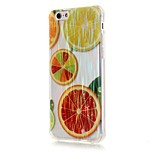 Luxury Brushed TPU Orange Pattern Phone Shell Drop Resistance for iPhone 6/6S/6 Plus/6S Plus