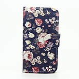 Floral Pattern Wallet Leather Stand Cover Case for Wiko Sunset2