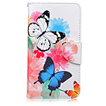 Butterfly Pattern Card Phone Holster For Huawei Honor 5X/Ascend P9/Ascend P9 Lite