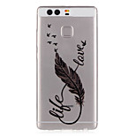 Feather Pattern Embossed TPU Case for P9/ P9 Lite
