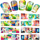 1pcs  Nail Art Water Transfer Stickers Beautiful Genius Girl Abstractive  Image Fashion C84-91