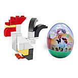 dr wan, le byggeklosser mini dyr egg emballasje puslespill montering byggeklossene leker hanen