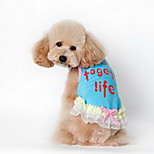 Dog Shirt / T-Shirt Blue / Pink Summer Plaid/Check / Letter & Number Striped-Lovoyager