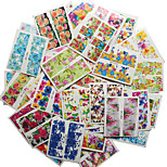 Nail Art Water Transfer Stickers 50 Different PCS/Set Flower Design Full Nail Sticker-Nude Packing