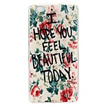Good Quality Emboss Graphic TPU Back Cover for Huawei Ascend G7/P8 Lite