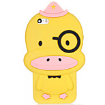 Cartoon Duck Silicone Soft Back Case for iPhone 5/5S/SE