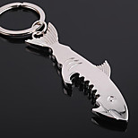 Stainless Steel Shark Bottle Opener Key Chain Ring Keyring