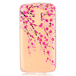Plum Flower Pattern Embossed TPU Case for LG K7/ K10