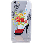 Red High Heels Translucent Luminous TPU Soft Phone Case for iPhone 6/6S