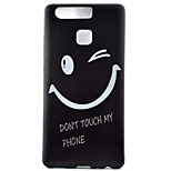 Smile Watch Black Edging Soft TPU Phone Case for Huawei Ascend P9/P9 Lite