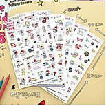 1PC Cute Kawaii Cartoon Little Red Riding Hood PVC Stickers For Diary Scrapbooking Cellphone Decoration(Style random)