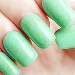 ekbas respectueux de l'environnement gomme de sucre vernis mat vert colle 16ml vernis à ongles