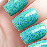 Ekbas Environmentally Safe Sugar Gum Blue 16ML Glitters Nail Polish