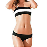 Black and White Stitching Ms. Bikini Sexy Bikini Swimsuit