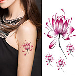 Halloween Women Lotus Flower Tattoo Temporary Tattoo Stickers Temporary Body Art Waterproof Tattoo