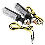 2x 12 LED moto Spia indicatore di direzione color ambra