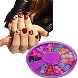 1pcs  New Purple Round Bowl Plastic Semicircle Shape Colorful Nail Art Flat Jewelry Nail Art Decoration  SLBY1