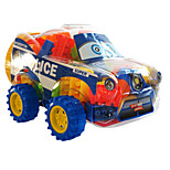 Blocks The Police Car Weighing 200 Grams Building Blocks(About 50 To 60 Pcs)