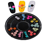 1pcs  New Black Round Bowl Plastic Semicircle Shape Colorful Nail Art Flat Jewelry Nail Art Decoration  SLBY1