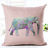 Novelty Animals Pattern Linen Pillowcase Sofa Home Decor Cushion Cover (18*18inch)