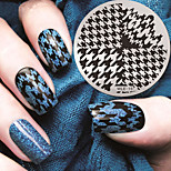 2016 Latest Version Fashion Pattern  Houndstooth Nail Art Stamping Image Template Plates
