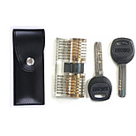 Professional Visible Cutaway of Challenge Lock for Training Skill with Leather Case 12pcs Tool
