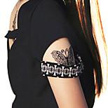Airbrush-Tattoo Schablonen- fürErwachsener / Teen-Schwarz-PVC-1Stück -24*16*0.2