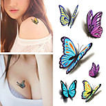 Sexy Waist Shoulder Water Transfer Tattoo Decal Waterproof Temporary Tattoo Sticker Colorful Butterfly Fake Tattoo