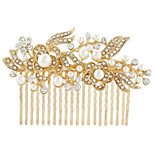 Silver Crystal Pearl Hair Combs for Wedding Party Lady Jewelry