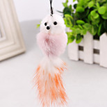 Adorable angora cute little fox face keychain